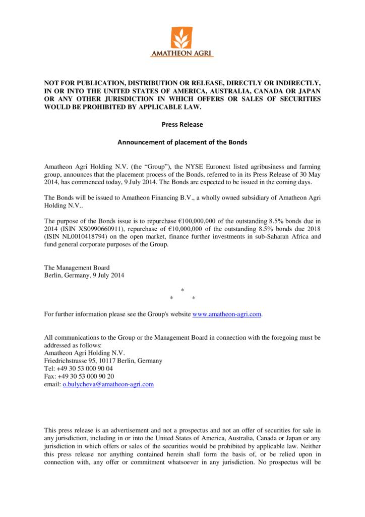 thumbnail of 09.07.2014_Press_Release_-_AF_bond_placement_process_announcement