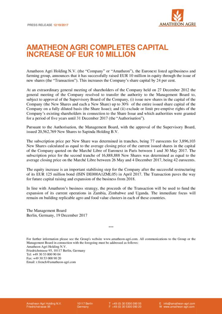 thumbnail of 171219_AAH_Press-Release_Amatheon-Agri-Completes-Capital-Increase-of-EUR-10-Million
