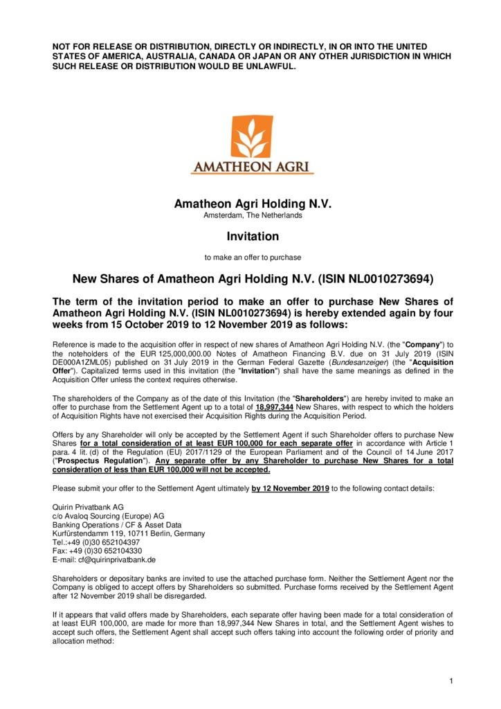 thumbnail of Invitation-to-shareholders-for-Amatheon-Agri-Holding-N.V-shares-extension-to-12-November-2019