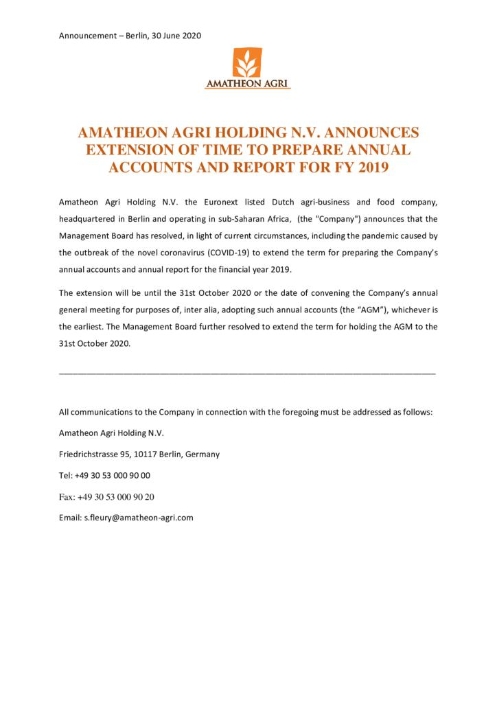 thumbnail of Press-Release-Announcement-of-extension-of-time-to-prepare-Annual-Report-and-Accounts-2019