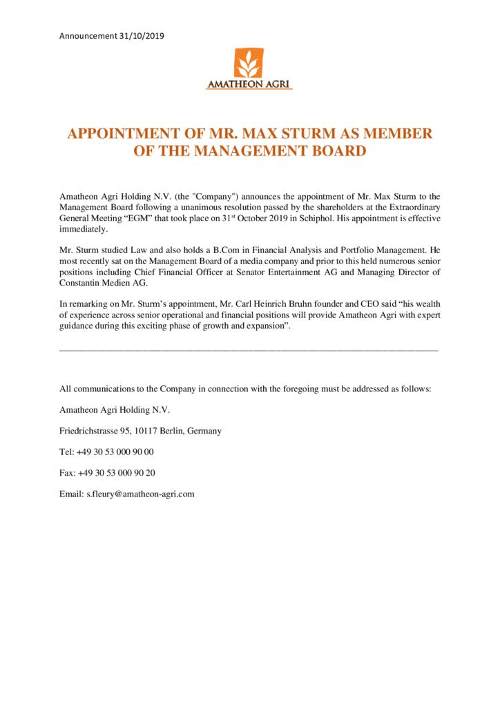 thumbnail of Press-Release-Appointment-of-Mr.-Max-Sturm-to-the-Management-Board