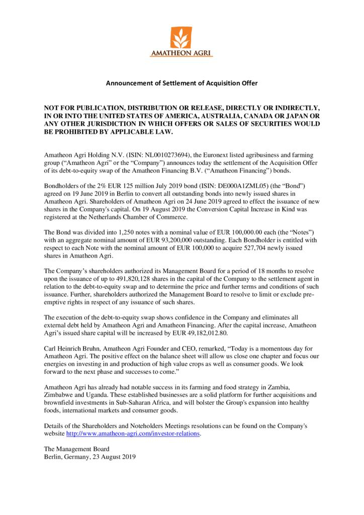 thumbnail of Press-Release-Settlement-of-Acquisition-Offer
