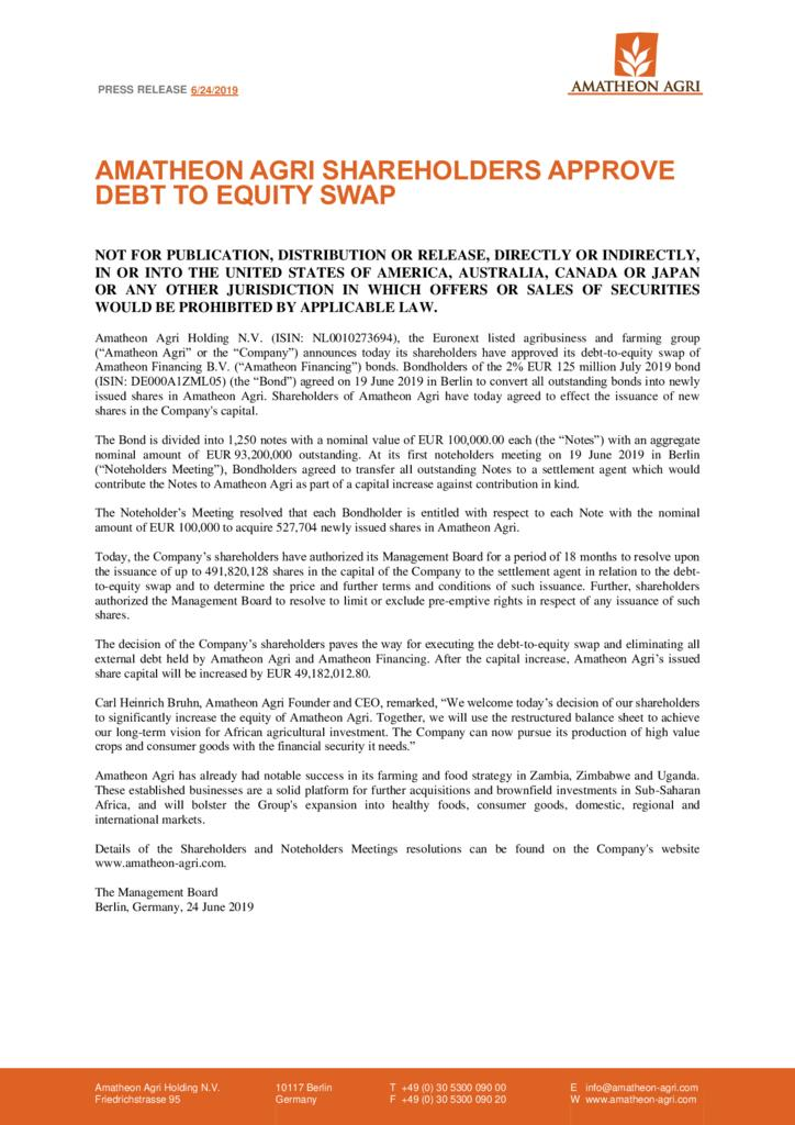 thumbnail of Press-release_Shareholders-Approve-Debt-to-Equity-Swap