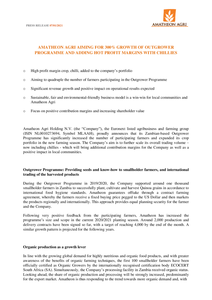 thumbnail of Press-Release-Expansion of Outgrower Programme and High Value Productportfolio